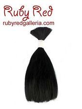 Reborn ~ Black Straight ~ NuBorn Mohair 1/4 oz. for Rooting 5639