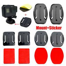 4 x Mounts (Flat & Curved)inc 3M VHB Adhesive Sticky Pads GoPro Go Pro UK Stock
