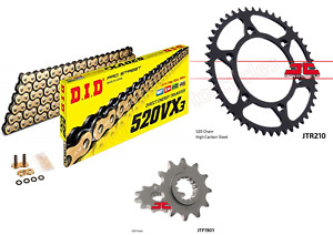 Beta XTrainer DID Gold X-Ring Chain & JT Sprockets Kit Set 13 Front & 51 Rear
