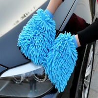 ITS- Microfibre Car Wash Washing Shampoo Cleaning Mitt Glove Polishing Cloth Int