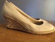MERONA Wedges Platform Shiny Canvas Rope Heel HIGH HEELS Womens Shoes Sz 11 ~