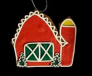 Adorable Christmas Barn Cookie Ornament - NWT