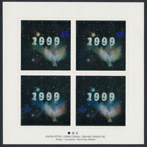 Canada 1812a sheet MNH Silver Hologram, Dove, Millennium