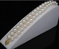 """14K Breathtaking 8-9 mm AAA+ white pearl bracelets 14K 7.5-8"""""""