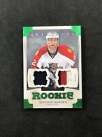 2013-14 UD ARTIFACTS QUINTON HOWDEN ROOKIE JERSEY PATCH EMERALD #ed 67/75