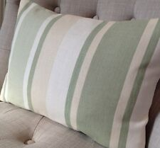"12x 16"" cushion cover Laura Ashley Awning Hedgerow green stripe fabric/Austen"