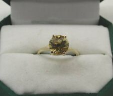 Superb 9ct Gold And Large Citrine Solitaire Dress Ring