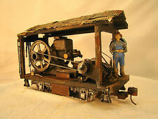 Hit 'n Miss Logging Wench - custom weathered after historic pictures - G scale