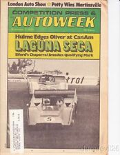 Vintage Nov 7, 1970 AUTOWEEK magazine Denny Hulme Richard Petty