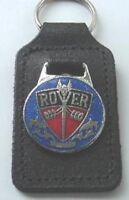 Morris Minor 1000 Leather and Enamel Key Ring Key Fob Triple-C FOB/_MM1000