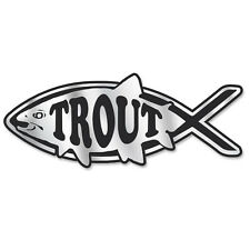 PF006 - Trout Fish Chrome 3D Emblem for Auto Truck and Home