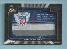 MATT RYAN 2009 TOPPS UNIQUE GAME WORN LAUNDRY TAG PATCH 1/1