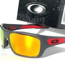NEW* Oakley TURBINE Racing Cement Grey Ducati Red w FIRE Iridium Sunglass 9263