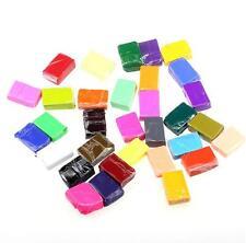 64pcs Craft Oven Bake Polymer Clay Modelling Soft Fimo Block Plasticine Toys