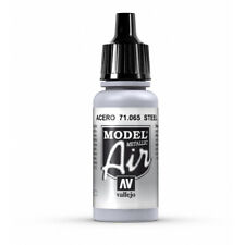 Vallejo Model Air: Steel - Acrylic Paint Bottle 17ml VAL71.065