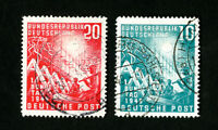 Germany Stamps # 665-6 VF Used Catalog Value $36.00