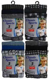 12 Boys Kids Children Boxer Shorts Underwear Cotton Designer Loose Fit Age 3-13