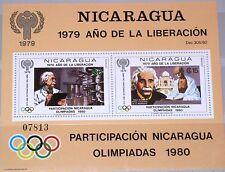 NICARAGUA 1980 Block 113 ICY Jahr des Kindes Gandhi & Einstein Olympics Moscow**