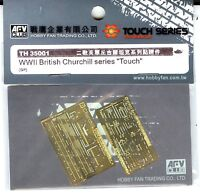 "AFV Club 1/35 TH35001 Photo Etched Parts Set for WWII British Churchill ""Touch"""