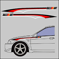 Ralliart stripe kit Evo 4 5 6 7 8 9