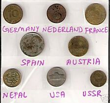 8 DIF COUNTRIES COINS WITH GERMANY NETHERLAND NEPAL AUSTRIA LOT # M B