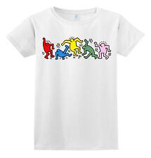 T-shirt donna e uomo con keith haring, scegli la grafica ed il tuo colore!