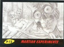 2017 TOPPS MARS ATTACKS BLACK #/55 MARTIAN EXPERIMENTS #P-12