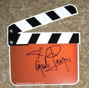 Cyndi Lauper Autographs movie shaped card