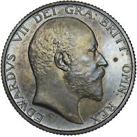 1902 MATT PROOF SHILLING - EDWARD VII BRITISH SILVER COIN - SUPERB