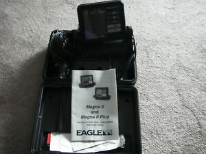 Eagle Magna II Head Unit Only Fish Depth Locator Great Condition Carrying Case