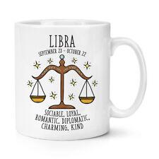 Libra Horóscopo 10 OZ (approx. 283.49 g) Taza Taza-Horóscopo Signo Astrología Zodiaco Cumpleaños