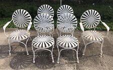 Antique Vintage Francois Carre Garden Chairs Set Of 6