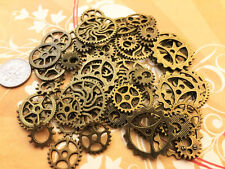80 Steampunk Gears Watch Parts Wheels Cogs Time Ticker Meter Clock Spring Teeth