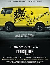 BAYSIDE & SAY ANYTHING/REGGIE & THE FULL EFFECT 2017 PHOENIX CONCERT TOUR POSTER