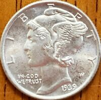 1939 Mercury Dime Uncirculated **Check it Out** #AA182-8