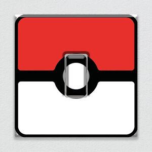 Pokemon Pokeball  Animation UK Light Switch Vinyl Sticker Decal for Room