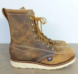 "Thorogood American Heritage 8"" Moc Steel Toe Wedge Boots 804-4478 Men 9.5 D"