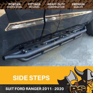 Black Side Steps for Ford Ranger PX PX2 PX3 2011+Dual Cab SideSteps