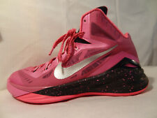 Nike Zoom  Mens PINK RIBBON breast cancer awareness basketball shoes Sz. 8 $ave