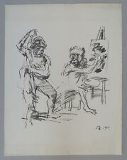 Oskar Kokoschka The Action Painter Lithographie 1959 monogrammiert