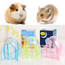 Small Pet Plastic Transparent Rocket Shape Bath Room Hamster Gerbil Cage HOT