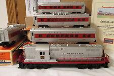 LIONEL 6-31775 BURLINGTON GP7 #1562 Locomotive & Passenger Set Post War Remake