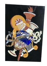 """12'x18"""" Pietra Dura Mosaic Inlay Marble Top Coffee Table Cafeteria Decors B201"""