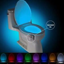Night Light Lamp Motion Activated LED Auto Toilet Bowl Bathroom Kids Portable