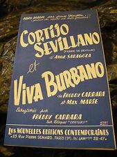 Partition Cortijo Sevillano Music Sheet Viva Burbano 1950 Freddy Carrara