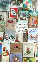 BIG Lot 23 Vintage Christmas Greeting Cards Holiday Ephemera Used/Unused F-1001