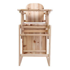 Detachable Wood Baby High Chair Infant Toddler Feeding Booster Folding Safe