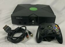 Original Microsoft Xbox Console Only Tested Working With Controller And Cables