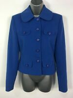 WOMENS CO-ORDINATES ATMOSPHERE CORNFLOWER BLUE BUTTON UP BLAZER JACKET SIZE UK 8