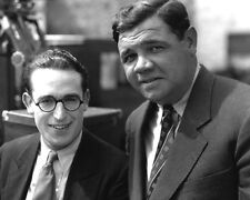 Harold Lloyd and Babe Ruth UNSIGNED photo - D2395 - On the set of Speedy